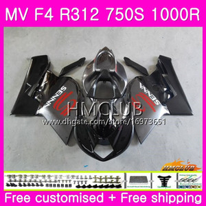 Wholesale fairing agusta resale online - Body For MV Agusta F4 MV F4 R312 S R CC Kit HM R MA MV F4 Top Grey black Fairing