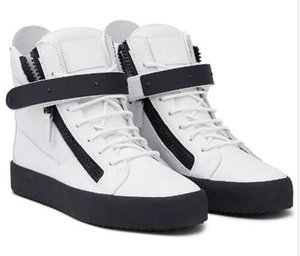 Wholesale Drop Shipping Italian Designer Brand New Women Casual Shoes Mens Sneaker Genuine008 Leather Lace Up High Tops Trainers Boot