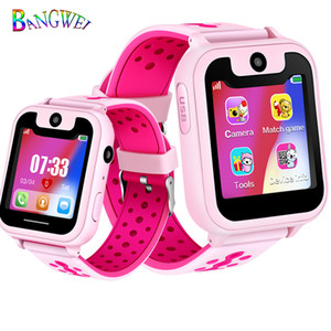 Wholesale Bangwei Simple Kid Smart Watch Boys Girls Baby Watch Lbs Position Tracker Phone Answer Children Watch Support For Android Phones J190524
