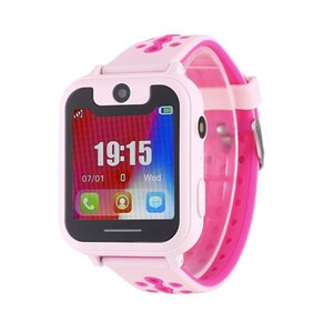 Wholesale S6 Cute Kids Children Smart Watch Support Phone SOS GSM GPRS SMS SIM Camera Route Track Playback Inch Touch Full Color LED