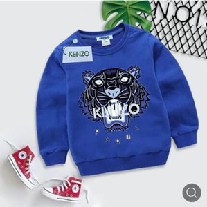 Wholesale Spring Children s Clothes Jacket Children Sleeve Head Sweater Pure Cotton Cartoon Printing Girl colors boys hoodie baby clothing