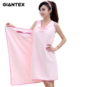GIANTEX Microfiber Women Sexy Bath Towel Wearable Beach Towel Soft Beach Wrap Skirt Super Absorbent Bath Gown U0826 on Sale