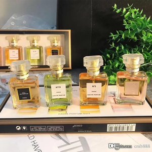 Wholesale Four piece Set Perfume for Women N19 N5 ml Eau De Parfum Suit Easy to Carry New in Box Same Brand High Quality