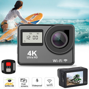 ingrosso camme d'azione-Ultra HD K Touch Screen Action Camera Telecamera WiFi P Dual Screen Go Impermeabile Pro Cam K Sport Camera Telecamera Mini DVR Telecomando