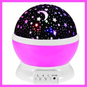Wholesale Lightme Stars Starry Sky LED Night Light Projector Moon Lamp Battery USB Kids Gifts Children Bedroom Lamp Projection Lamp C2