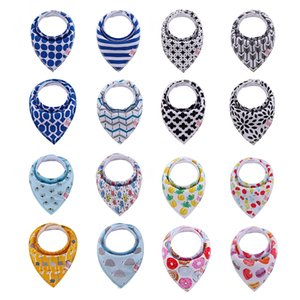 Wholesale Baby Bibs Burp Cloths 330+ Designs Waterproof Triangle Bibs Newborn Cartoon Print Baby Bibs Baby Girls Boys Bandana Infant Saliva Cloth