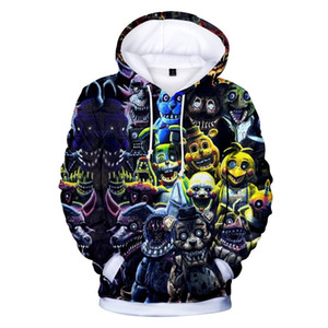 Wholesale New Autumn 3D print Five Nights at Freddys Sweatshirt School Hoodies Boys FNAF Costume For Teens Sport ClothesMX190916