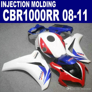 Wholesale oem parts honda resale online - Injection OEM ABS motorcycle parts for HONDA fairings CBR1000RR CBR1000 RR white red blue fairing kit U72