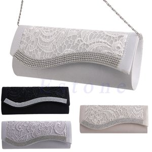 Wholesale New Pc Womens Floral Lace Stain Elegance Evening Wedding Party Bridal Clutch Bag Purse