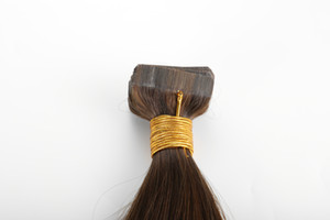 New Arrival 100g water wave Tape In Human Hair Extensions 40pcs Brazilian Virgin Natural Wave Soft Skin Weft Hair