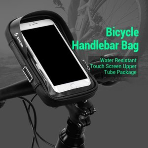 Wholesale Bicycle Handlebar Bag Water Resistant Touch Screen Upper Tube Package