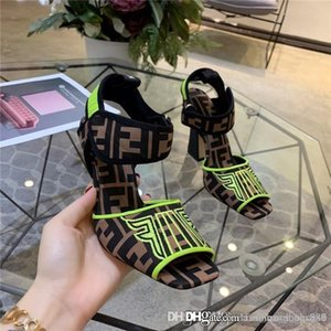 Wholesale The latest explosion of sandals Square fashion trend high heeled shoes Carefully made and comfortable Stylish and beautiful leather outsole
