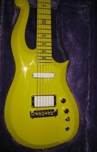 Rare Prince Cloud Yellow Guitar Diamond Yellow New Paisley Wrap Arround Tailpiece Imported Hardware