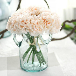 Peony Artificial Fowers Bridal Bouquet Wedding Bouquets Silk Flower for Home Party Wedding Garden Decoration 5pcs bunch