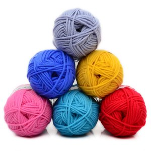 Wholesale The Baby Infant Milk Cotton Knitting Yarn Coarse Wool Hand Woven Scarf Hook Needle Blanket Eco Friendly Dyed Hand Knit A0030