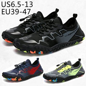 Wholesale 2019 new hot British tide brand outdoor Men Swimming Lace up Design Summer Quick Dry Aqua Beach Water Shoes Sea Sneakers Size:35-47