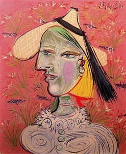 Wholesale Pablo Picasso Classical Oil Painting Woman With Straw Hat On Flowery Background Handmade By Experienced Painter On Canvas Picasso1072