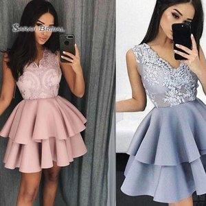 Tiered V-neck Prom Dresses Vestidos De Festa Cocktail Wear In Stock Hot Sales High-end Occasion Dress on Sale
