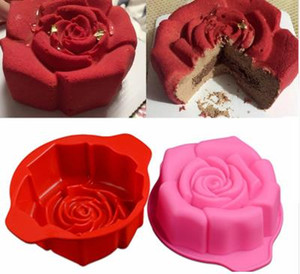Wholesale New D Flower Silicone Molds Fondant Craft rose Cake Candy Chocolate Sugarcraft Ice Pastry Baking Tool Mould