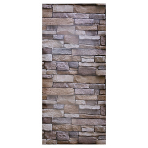 Wholesale faux brick walls resale online - Modern Faux Brick Textured Adhesive Wallpaper for Living Room Bedroom Hallway TV Background Home Decor x cm