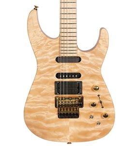 Wholesale NEW Custom Shop Jack Son PC1 Signature Phil Collen Natural Quilted Maple Chlorine Electric Guitar Gold Tremolo Active Pickups v Battery
