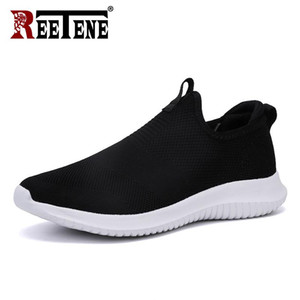 Wholesale REETENE Cheapest Men Casual Shoes Men Sneakers New Running Shoes For Men Lightweight Air Mesh Shoes Male Large Sizes