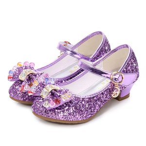 Wholesale Shiny Glittering Girls Shoes Crystal Bow Toddler Girl Sandals Summer Shoes for Wedding Party Princess Shoes Costume Flamenco Cosplay