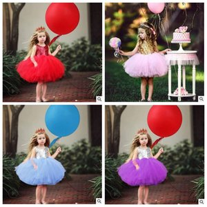 Wholesale cinderella baby clothes resale online - Baby Clothes Girls Princess Sequins Dress Cinderella Evening Dress Bridesmaid Pageant Dresses Summer Flower Dress Halloween Costume B5270