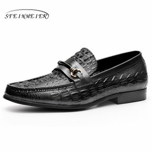 Men leather shoes business dress banquet suit shoes men brand Bullock genuine leather wedding oxford for black coffee