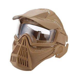 Wholesale Tactical Outdoor Lens Mask Full Face Breathable Cs Hunting Army Protection Masks Accessories
