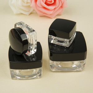 Wholesale 5g g g black crystal square mask bottles Acrylic Perfume Fragrance bottle Cream bottles cream bottle cz248