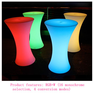 Wholesale bars tables for sale - Group buy D60 H110cm Rechargeable LED Illuminated cocktail table Lighted up Bar Table plastic coffee table Indoor Or Outdoor use