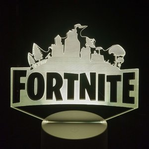 Wholesale Fortnite D Optical Illusion Lamp Night Light DC V USB Powered Battery Dropshipping