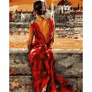 Wholesale New Fashion DIY Digital Canvas Oil Painting Frameless Landscape Painting Art Modern Home Decor Fashion New Art Canvas Oil Painting