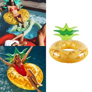 Wholesale Pineapple Shape Swimming Ring Inflatable Pool Raft Lounge Great for pool party or sea vacations Float Toy