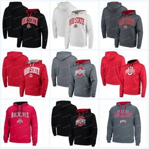 Wholesale Men Ohio State Buckeyes Jerseys Colosseum Big Logo Arch Logo Pullover Hoodies Sweatshirts Black White Red Grey Hoodies Sweatshirts