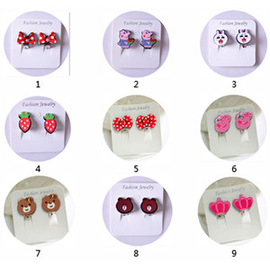 40 styles High quality children ear clip-on earrings painless earless female fake earrings love cartoon invisible ear hanging ear bone clip