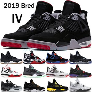 Wholesale 2019 Bred s basketball shoes men mens laser black gum thunder royalty tattoo hot lava rapotors designer sneakers IV Pure money trainers