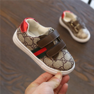 Wholesale Kids Designer Sneakers Luxury Sneaker Letter Pattern Flat Shoes Fashion Stripe Print Kids Shoes for Girl Boy New Styles