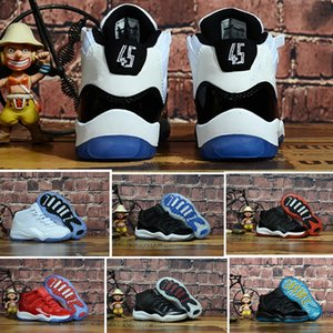 11S Concord 45 2018 Baby Little Big Kids Basketball shoes Bred Gamma Blue Legend Blue Youth Boys Girls Outdoor Athletic Sneakers on Sale