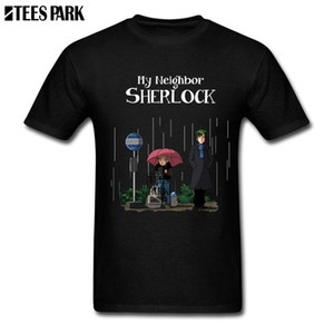 Wholesale My Neighbor Sherlock T Shirt Printing Male Pre cotton Short Sleeved Totoro Anime Cartoon T shirts Pop Sale Youth Inspirational