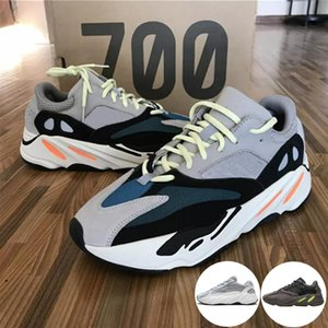 700 Runner 2019 New Kanye West Mauve Wave Mens Women Athletic Best Quality 700s Sports Running Sneakers Designer Shoes With Box on Sale