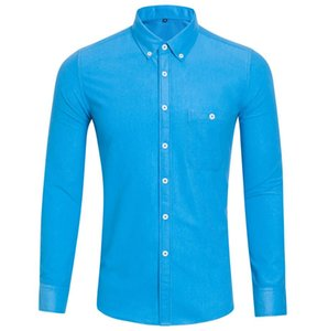 light blue New supply foreign trade corduroy large size leisure long-sleeved shirt autumn and winter men's bottom on Sale