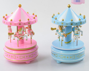 Wholesale Carousel Music Box Children s Creative Toys Music Box Cake Baking Decoration Christmas Decoration Birthday Gift