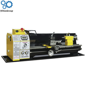 Wholesale lathe machines resale online - 220v HMT A small lathe mechanical hardware processing multi function household woodworking ordinary micro machine tool