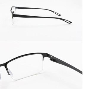 Wholesale titanium glasses eyewear rimless resale online - Semi Titanium Alloy Frames TR90 Men Eyeglasses Glasses Square Eye Rimless Glass Eyewear Myopia Optical Prescription Korean Frame Eclex