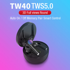 Wholesale TW40 TWS Bluetooth Earphones Realtek Wireless Stereo Earbuds Sports Running Touch Control Headsets Noise Resolution With Microphone