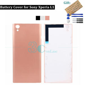 For Sony Xperia L1 Back Battery Cover Rear Housing Door & 3M Glue for Sony Xperia L1 G3311 G3313 Replacement Repair Spare Parts