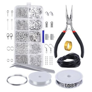Wholesale 201909 New Jewelry Making Set Beading Repair Tools Beads Wire Starter Open Rings Closed Ring Lobster Buckle Set Hand Tool Pliers M545A