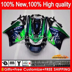 Body For KAWASAKI ZZR1100 ZX-11R ZZR 1100 CC ZX11 R 30HC.136 blue green ZZR-1100 ZX-11 R ZX 11R ZX11R 90 91 92 1990 1991 1992 Fairing kit